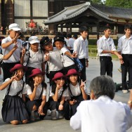 School kids, Todaiji Temple, Nara, Japan | © Marijn Engels, October 2012