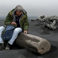 Black beach due to Eyjafjallajokull eruption, Iceland | © Marijn Engels, May 2010