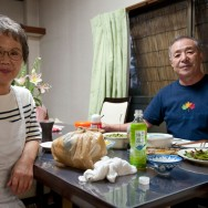 Spontaneous Yamano family dinner invitation, Kumamoto, Japan | © Marijn Engels, September 2012