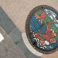 Manhole, Kotohira, Japan | © Marijn Engels, September 2012