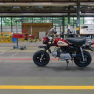Honda Z50J Monkey, standing between giants during testing, customs and registration, RDW test centre, Amsterdam | September 2010