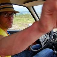 On the road to Edinburg, Scotland (07-2012)