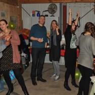 Old Dutch family game 'sjoelen'