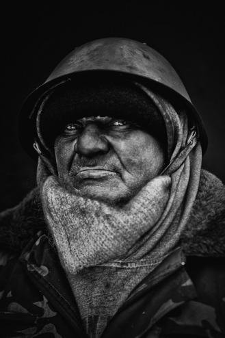 One of the pictures from 'Revolutionaries from Hrushevskoho street' by Katya Rezvaya and Misha Domozhilov