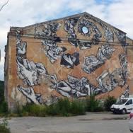 Street art in Kamianets Podilskyi, Ukraine